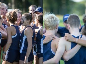 Yale cross country teams during a meet in 2019
